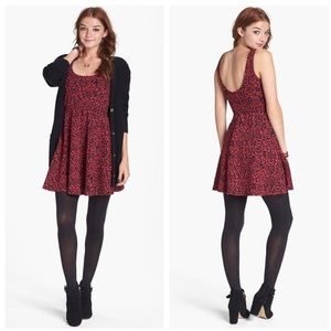 Dee Elle rose print Jacquard skater dress